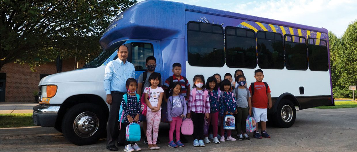 PASTOR BUYS, DRIVES BUS TO PROVIDE CHILDREN WITH ADVENTIST EDUCATION